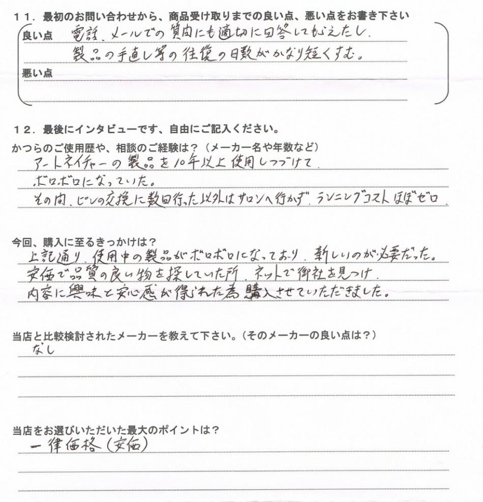 アンケート:和歌山県40代(営業されるのがすごく嫌)